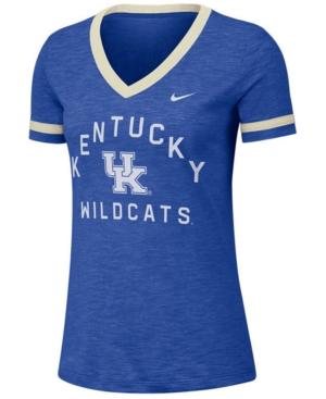 Nike Women's Kentucky Wildcats Slub Fan V-Neck T-Shirt