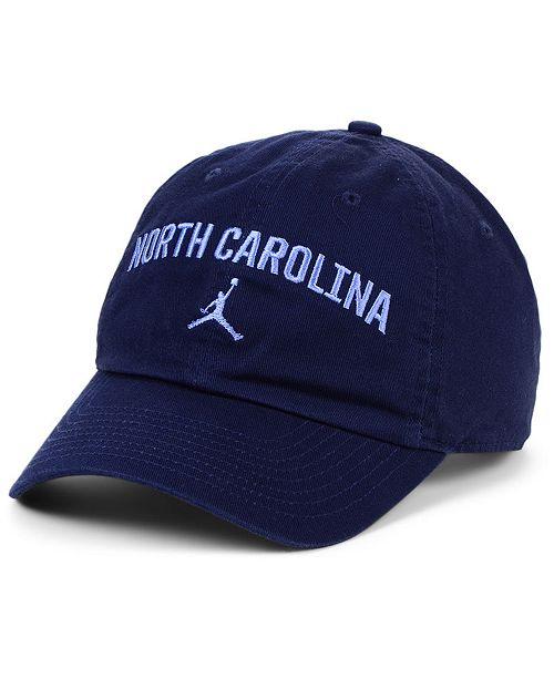 Jordan North Carolina Tar Heels Heritage 86 Wordmark Swoosh Strapback Cap