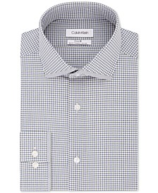 Men's STEEL Slim-Fit Non-Iron Performance Stretch Print Dress Shirt