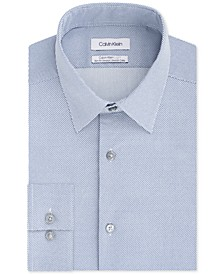 Men's Light Slim-Fit Performance Stretch Sine Wave Dress Shirt