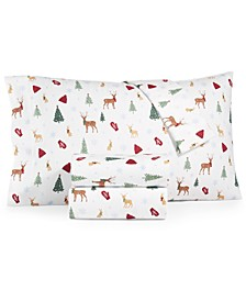 Printed Cotton Flannel 4-Pc. Queen Sheet Set, Created for Macy's