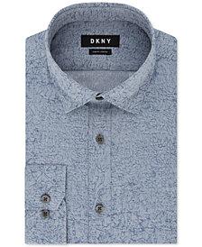 DKNY Men's Slim-Fit Stretch Kaihara Botanical Patterned Dress Shirt