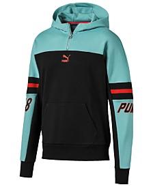 Puma Men's LuXTG Colorblocked Quarter-Zip Hoodie