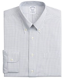Brooks Brother's Men's Regent Classic/Regular-Fit Non-Iron Performance Stretch Check Dress Shirt