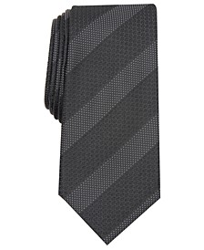 Men's Slim Textured Stripe Tie, Created For Macy's