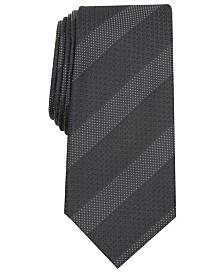 Alfani Men's Slim Textured Stripe Tie, Created For Macy's