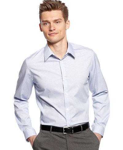 Calvin Klein Men 39 S Infinite Cool Non Iron Checked Shirt