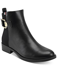 Tommy Hilfiger Women's Inella Mixed-Media Booties
