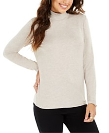 Style & Co. Petite Long-Sleeve Turtleneck Top, Created for Macy's