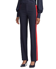 Lauren Ralph Lauren Side-Stripe Straight-Leg Pants