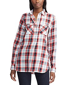 Plaid Patch-Pocket Shirt