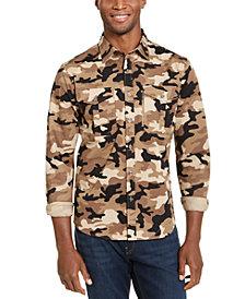 Michael Kors Men's Slim-Fit Stretch Pocket Zipper Shirt