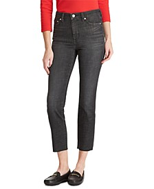 Regal Raw-Cut Straight-Leg Ankle Jeans