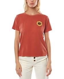 O'Neill Juniors' Sun Baked Cotton Sunflower Graphic T-Shirt