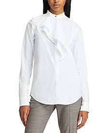 Tiered-Panel Button-Down Shirt