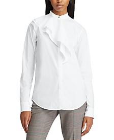Lauren Ralph Lauren Tiered-Panel Button-Down Shirt
