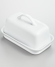 Martha Stewart Collection Whiteware Butter Dish, Created for Macy's