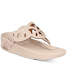 Elora Crystal Toe-Thong Sandals