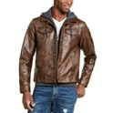 American Rag Men's Faux Leather Trucker Jacket