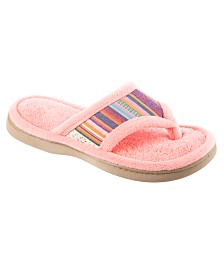 Isotoner Women's Microterry Renae Thong Slipper, Online Only