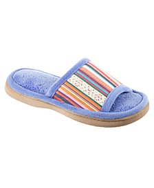 Isotoner Women's Microterry Renae Slide Slipper, Online Only