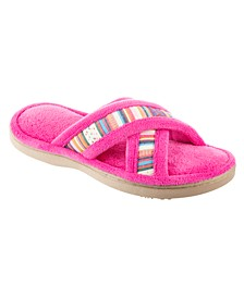 Isotoner Women's Microterry Renae X-Slide Slipper, Online Only