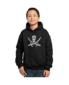 Boy's Word Art Hoodies - Pirate Captains, Ships And Imagery