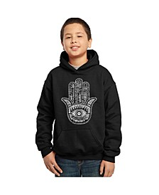 Boy's Word Art Hoodies - Hamsa