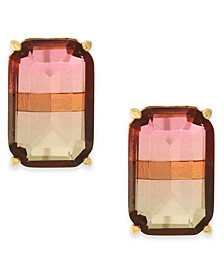 Ombré Crystal Stud Earrings