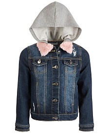 Epic Threads Little Girls Layered-Look Denim Jacket, Created For Macy's