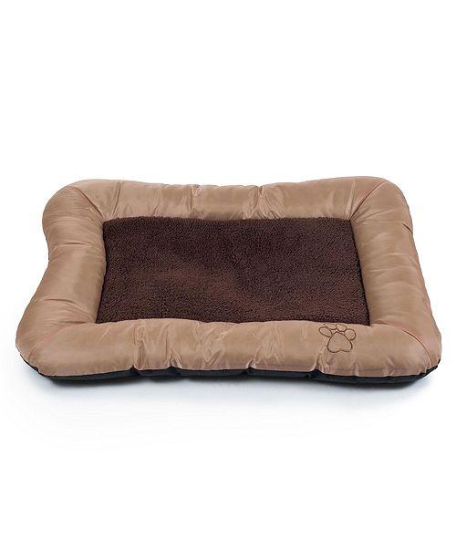 "PetMaker 33""x24"" Plush Cozy Pet Bed - Tan"