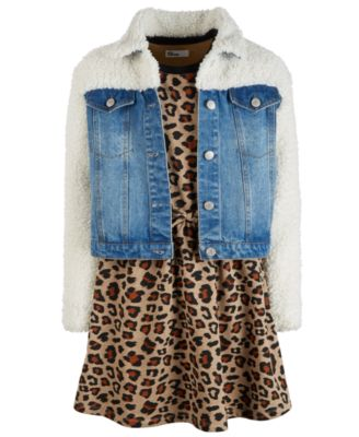 Big Girls Faux Sherpa Denim Jacket, Created for Macy's