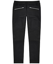 Big Girls Ponté-Knit Moto Pants, Created for Macy's