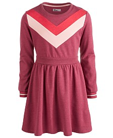 Epic Threads Big Girls Chevron Sweatshirt Dress, Created For Macy's