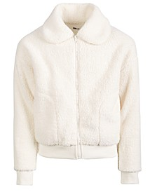 Big Girls Solid Fleece Jacket, Created For Macy's