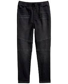 Epic Threads Big Boys Stretch Drawstring Moto Jeans, Created for Macy's