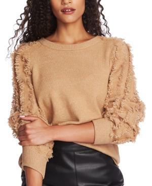 1.state Fringe-Sleeve Sweater