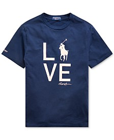 Polo Ralph Lauren Big Boys Pink Pony Love T-Shirt