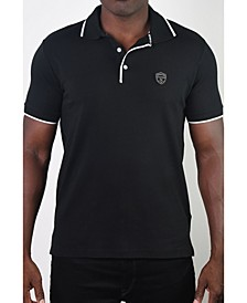 Men's Basic Short Sleeve Logo Botton Polo