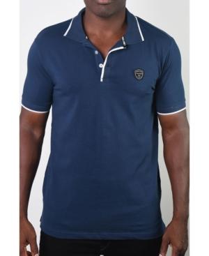 Men's Basic Short Sleeve Logo Botton Polo