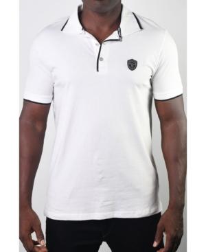 Members Only Men's Basic Short Sleeve Logo Botton Polo