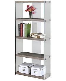 """Monarch Specialties 60"""" H Bookcase"""