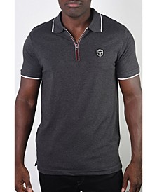 Men's Basic Short Sleeve Stripe Polo