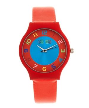 Unisex Jubilee Orange Leatherette Strap Watch 36mm