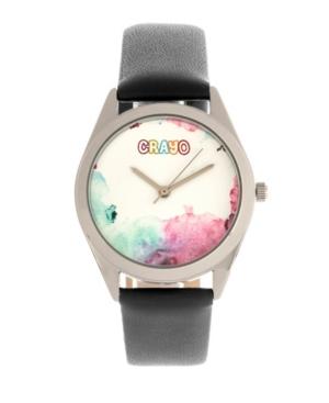 Unisex Graffiti Black Leatherette Strap Watch 35mm