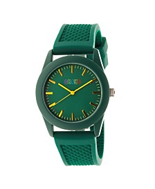 Crayo Unisex Storm Forest Green Silicone Strap Watch 40mm