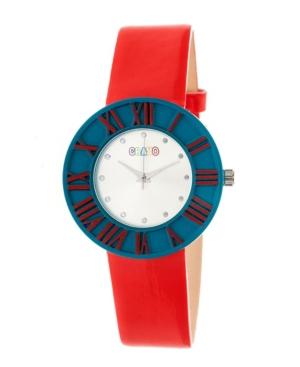 Unisex Prestige Red Polyurethane Strap Watch 37mm