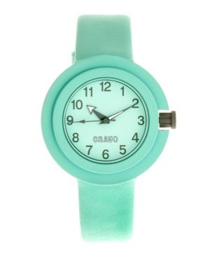Unisex Equinox Mint Leatherette Strap Watch 40mm