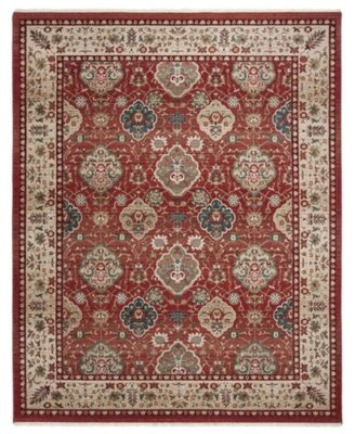 """Ariel LRL1255C Red and Beige 5'1"""" X 7'6"""" Area Rug"""