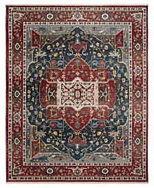 Camille LRL1225A Red and Navy Area Rug